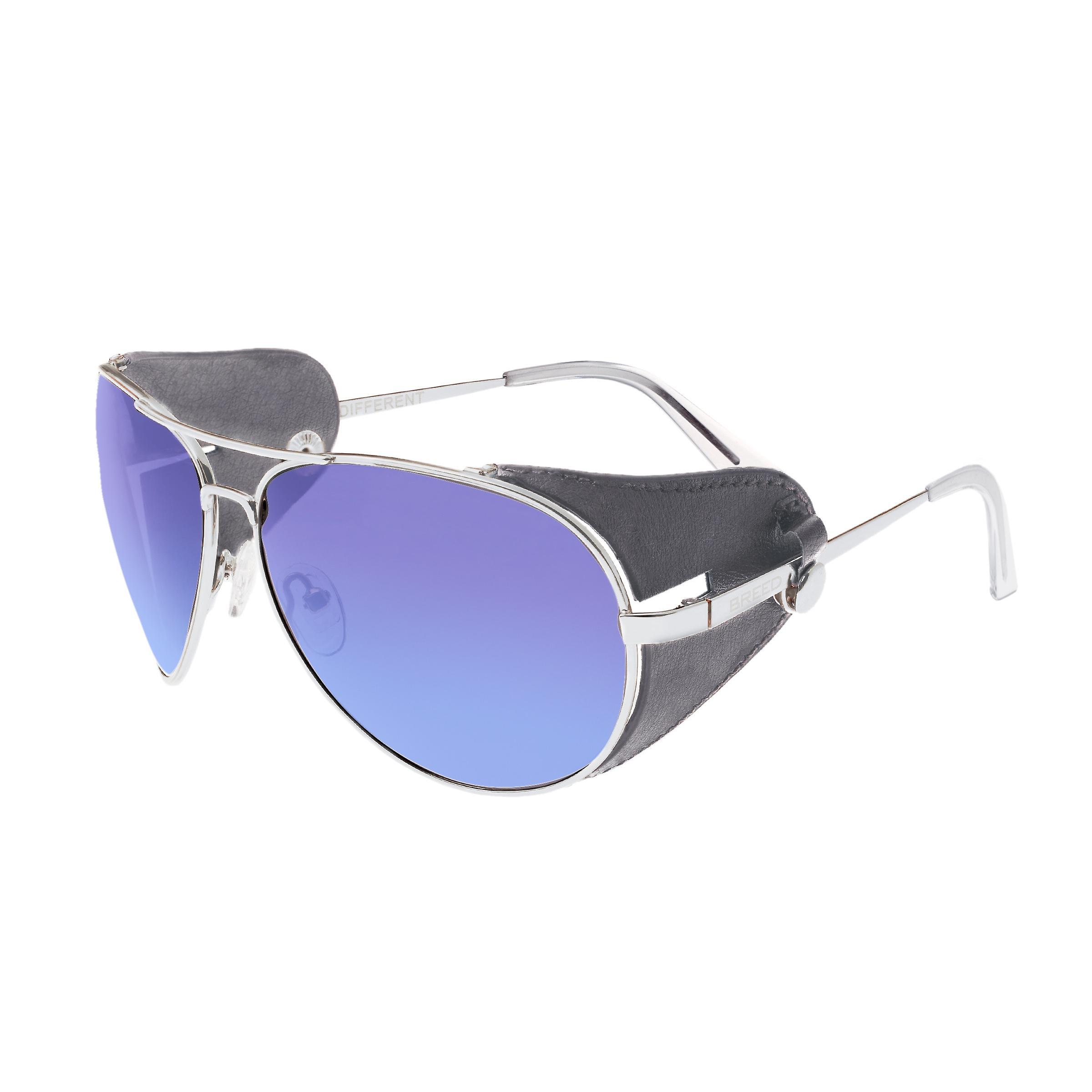 Race Eclipse titane Polarized lunettes de soleil - argent bleu-violet