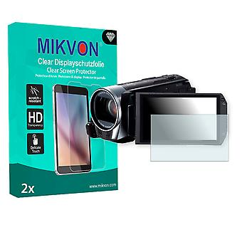 Canon Legria HF R38 Screen Protector - Mikvon Clear (Retail Package with accessories)
