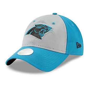 Carolina Panthers NFL New Era Gray Glitter Adjustable Hat
