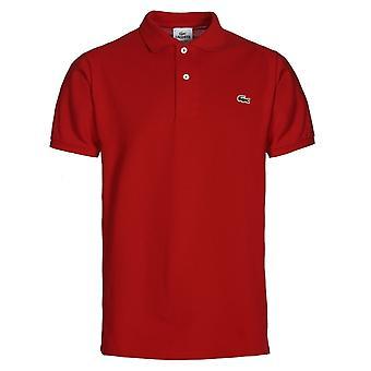 Lacoste L1212 punainen Classic Fit Pique Polo-paita