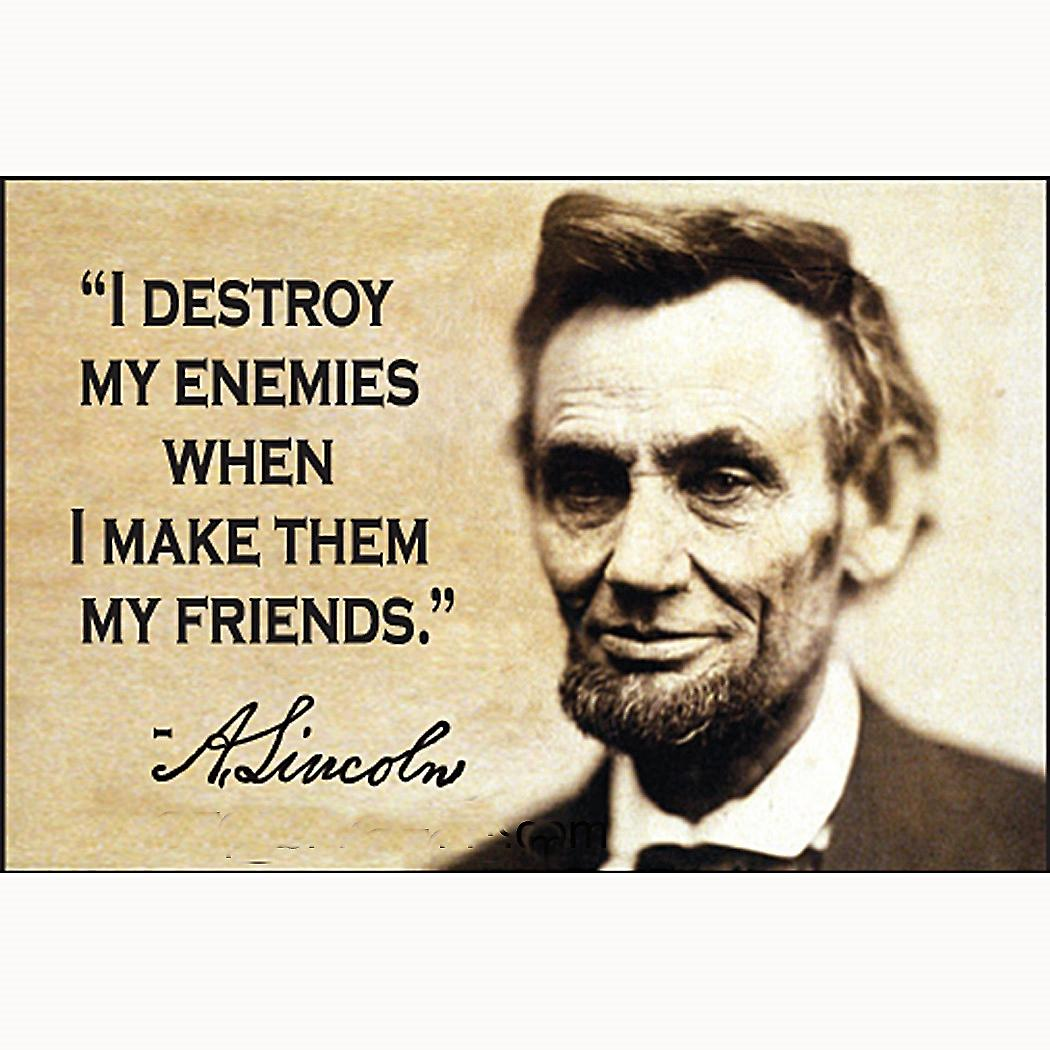 I Destroy My Enemies (Abraham Lincoln) fridge magnet     (ep)