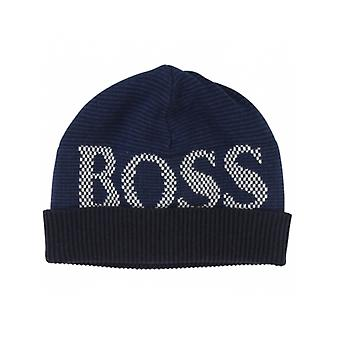 BOSS Kidswear Hugo Boss Boys Navy Logo Beanie