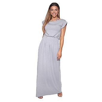KRISP vrouwen overmaatse Batwing mouw losse Top Stretch hoge taille Jersey maxi jurk