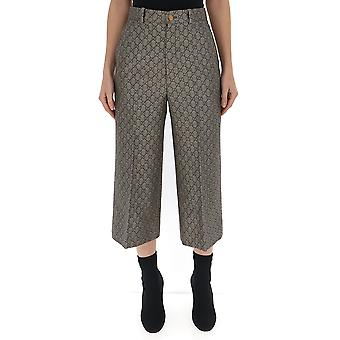 Gucci White/brown Cotton Pants