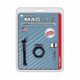 Mini Maglite AA accessory kit - with lenses and pocket clip