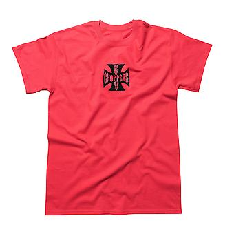 West Coast choppers mens T-Shirt red cross ATX / black