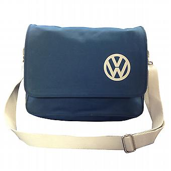 Official VW Canvas Messenger Shoulder Bag - Blue