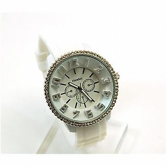 Henley Glamour hvit ring Chrono effekt Sports Watch