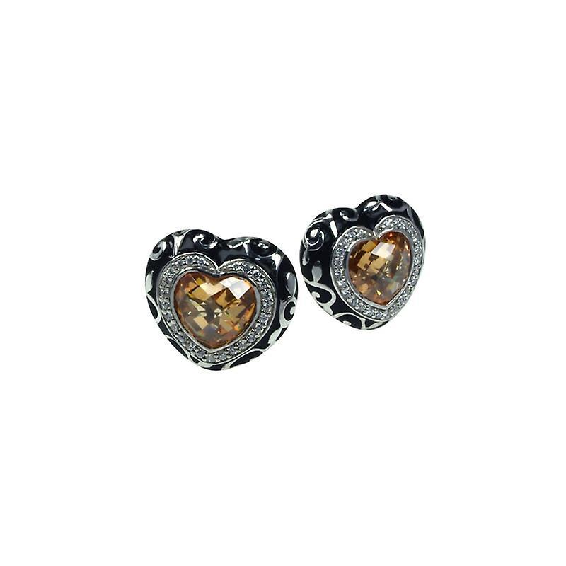 Belle Etoile Royale Heart Champagne boucles d'oreilles 3020811002