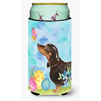 Black and Tan Dachshund Easter Tall Boy Beverage Insulator Hugger
