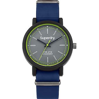 Superdry Campus Natural Japanese Quartz Analog Man Watch with SYG197U Silicone Bracelet
