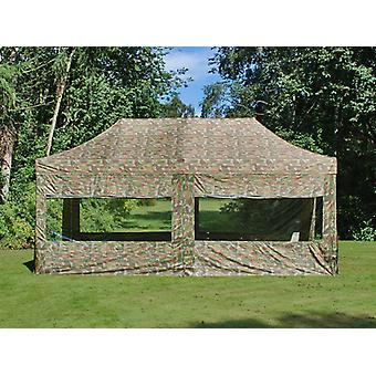 Tente Pliante FleXtents Easy up pavillon PRO Telthal 3x6m Camouflage, avec 6 cotés