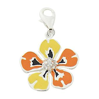 Sterling silver pendant charm Flower BC1062