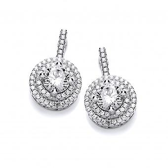 Cavendish French Cubic Zirconia Circled Solitiaire Earrings
