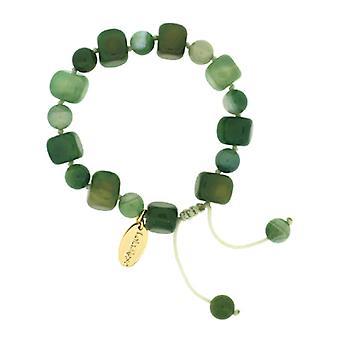 Lola Rose Sury armbånd grønn Stripe agat