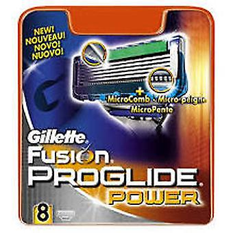 Gillette Proglide Fusion Power Blades Refill (8 stk) (mand, barbering, barberblade)