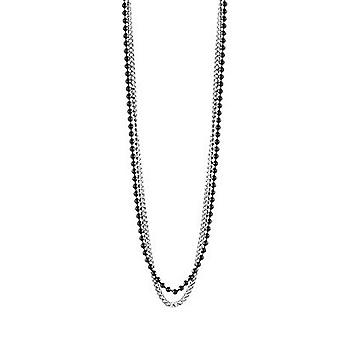 Guess men's chain necklace stainless steel Silver Black UMN21510