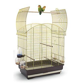 Agata Open Top Small Bird Cage Brass 58x33x62.5cm