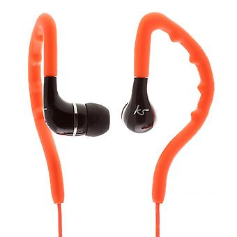 KITSOUND Headphone Enduro Orange In-Ear Ear Hook Water Safe