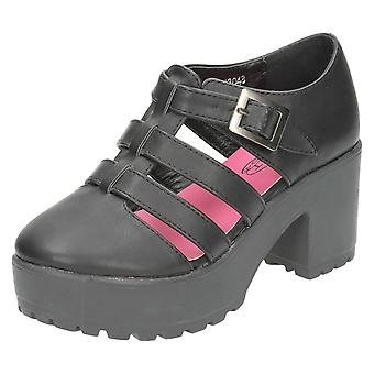 Meisjes plek op hoog Platform Strappy schoenen H3048
