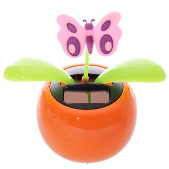 Puckator Novelty Solar Pal Ornament, Orange Butterfly