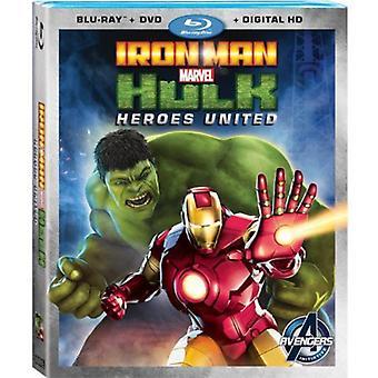 Iron Man & Hulk: Heroes United [BLU-RAY] USA import