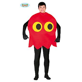 Emoticon red spirit 80's retro game costume mens costume one size