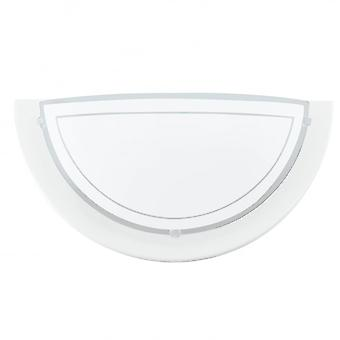 Eglo Planet 1 1 Light Modern Wall Light White Finish With A Sati