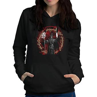 Secret Fire Gandalf Balrog Lord of the Rings Women's Hooded Sweatshirt