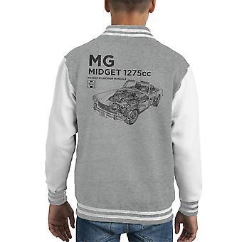 Haynes Workshop Manual MG Midget 1275cc Black Kid's Varsity Jacket