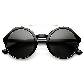 Retro mode Metal overligger stor cirkel runde solbriller