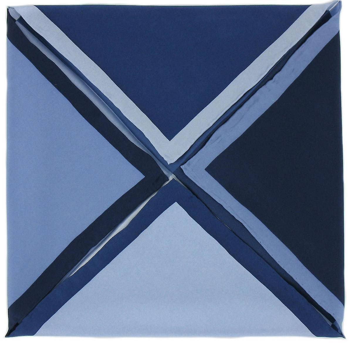 Michelsons of London Four Way Silk Handkerchief - Navy Blue