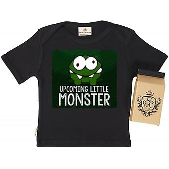 Spoilt Rotten Upcoming Little Monster Babys T-Shirt 100% Organic In Milk Carton