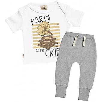 Spoilt Rotten Party At My Crib Baby T-Shirt & Joggers Outfit Set