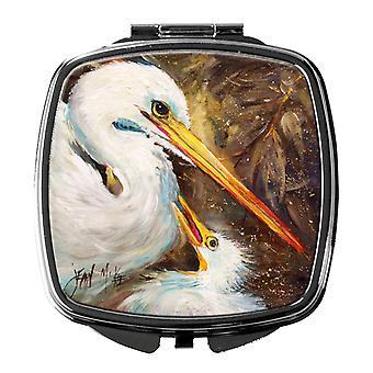 Carolines skatter JMK1211SCM hvit Egret fôring baby kompakt speil