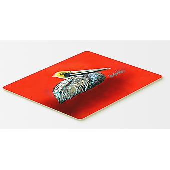 Carolines Treasures  MW1232CMT Sitting Brown Pelican Kitchen or Bath Mat 20x30