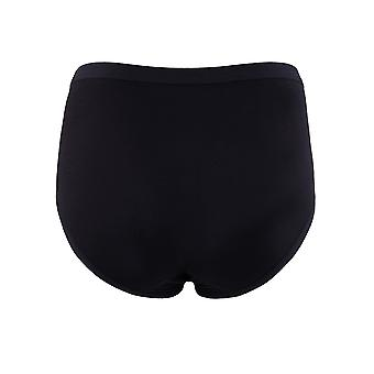 BlackSpade Private Black Cotton Lace Midi Brief 1311