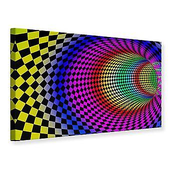 Canvas Print abstracte Retro Tunnel