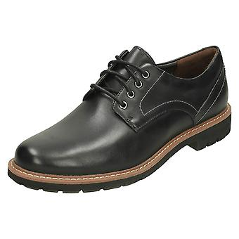 Mens Clarks Smart Lace Up Shoes Batcombe Hall - Black Leather - UK Size 11G - EU Size 46 - US Size 12M