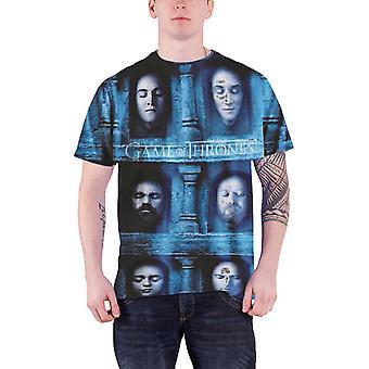 Spillet af troner T Shirt død masker nye officielle herre slim fit sub farvestof
