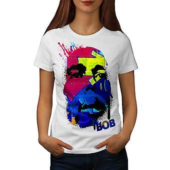 Bob Marley Splash WhiteT-shirt femme   Wellcoda