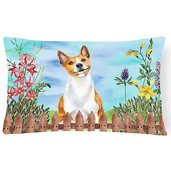 Carolines Treasures  CK1254PW1216 Basenji Spring Canvas Fabric Decorative Pillow