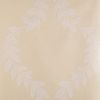 Designer Biege & Cream Wallpaper Roll - Floral Florentine Leaf Design - 418910