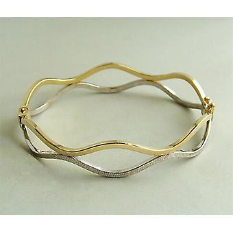 Bicolor wavy bracelet
