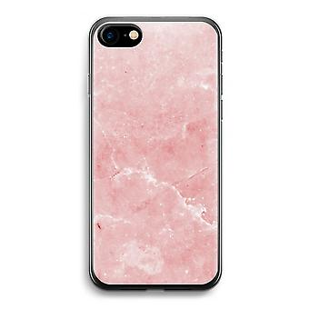 iPhone 7 Transparent Case (Soft) - Pink Marble