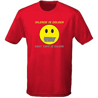 Silence Is Golden Duct Tape Is zilver heren T-Shirt 10 kleuren (S-3XL) door swagwear
