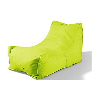 Bean bag with side pocket waterproof soft modern beanbags seat bag Green