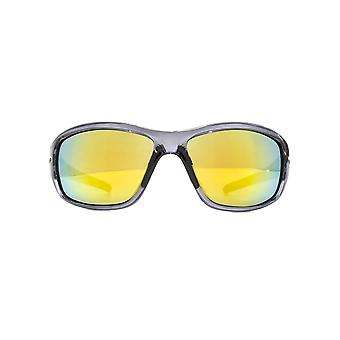 Freedom Polarised Cagayan Large Duel Injected Wrap Sunglasses In Grey Polarised