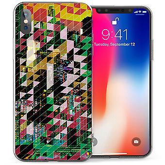iPhone X городских геометрические Zig Zag гель ТПУ - зеленый