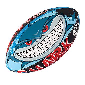 OPTIMUM shark attack rugby ball (size 3)